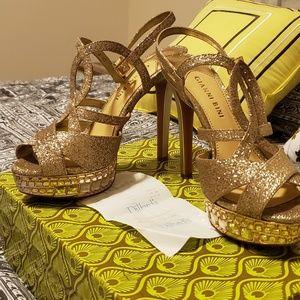 Gold Gianni Bini heels